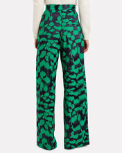 High-Rise Printed Trousers, GREEN/NAVY, hi-res