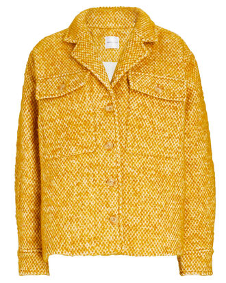Leon Tweed Shirt Jacket, GOLD, hi-res