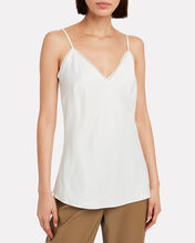 Satin Lounge Camisole, WHITE, hi-res