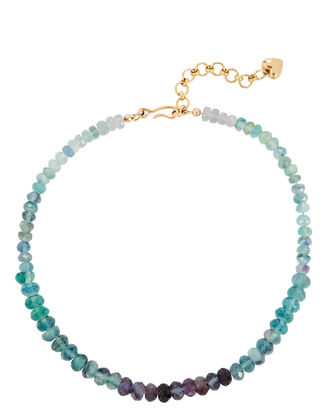 Blue Crush Beaded Necklace, BLUE, hi-res