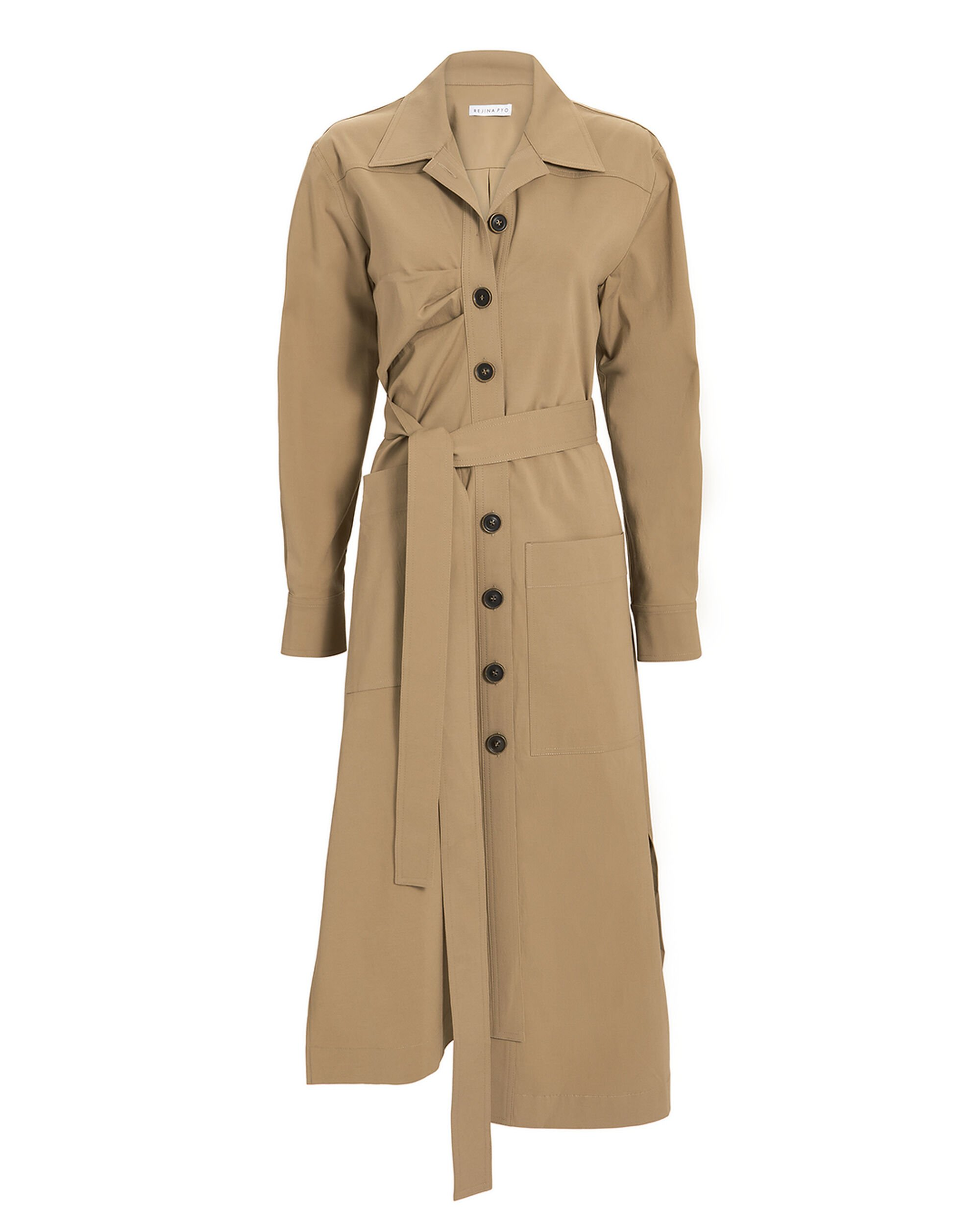 Madison Trench Dress, BROWN, hi-res