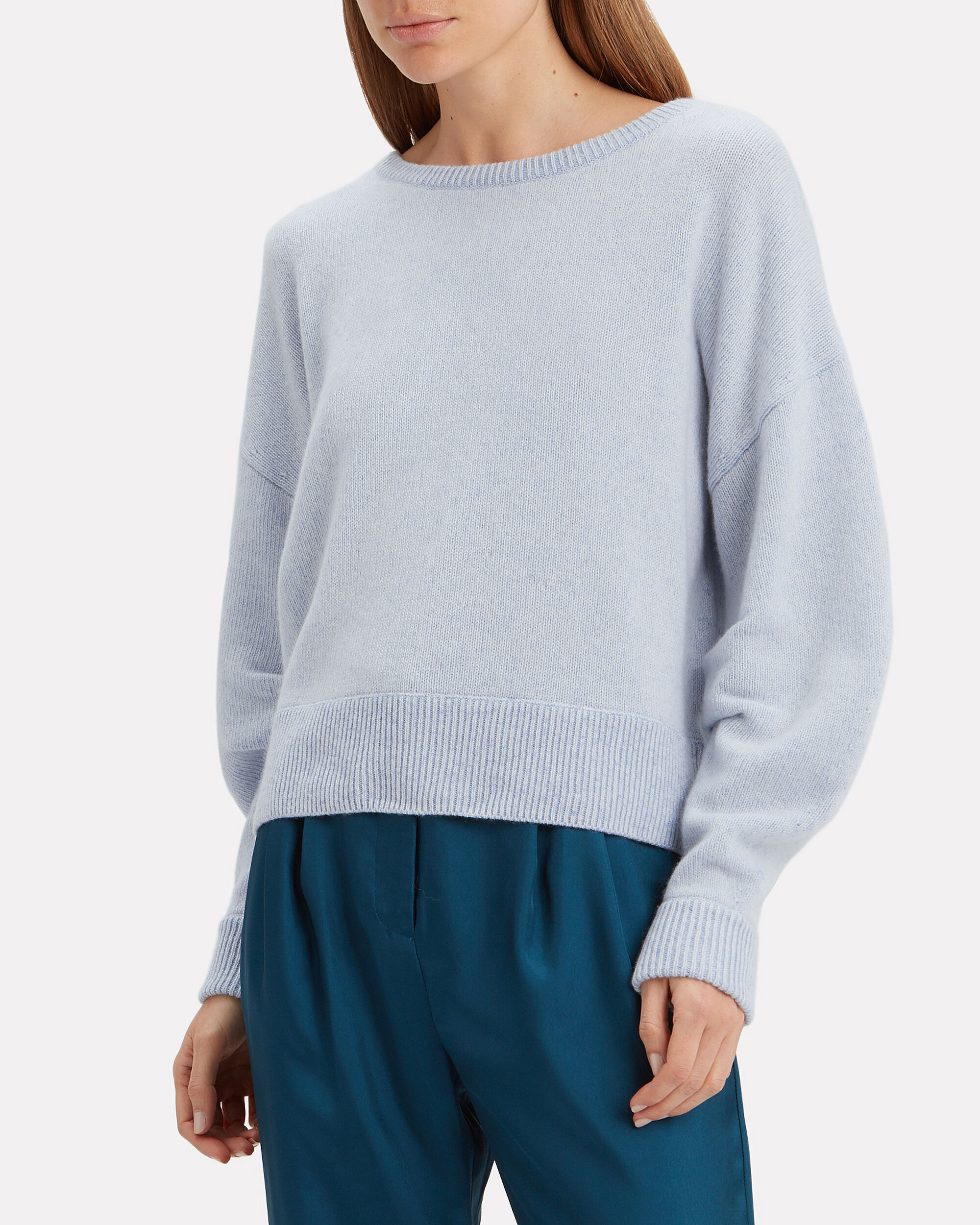 Alta Skylar Cashmere Blue Sweater, LIGHT BLUE, hi-res