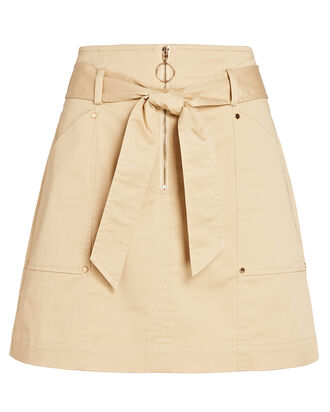 Sally Belted Mini Skirt, BEIGE, hi-res