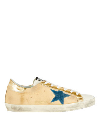 Superstar Low-Top Sneakers, GOLD/NAVY, hi-res