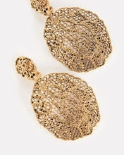 Vintage Lace Pendant Earrings, GOLD, hi-res