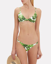 Mykela Palm Print Bikini Bottom, MULTI, hi-res