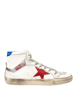 2.12 Hi Top Red Star Leather Sneakers, WHITE, hi-res