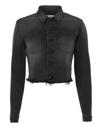 Zuma Lace-Up Back Crop Jacket, BLACK, hi-res