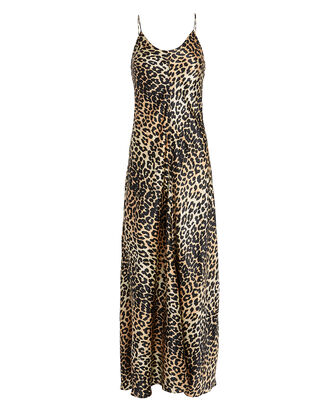 Leopard Silk Slip Gown, MULTI, hi-res