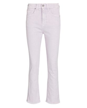 Carly High-Rise Kick Flare Jeans, LAVENDER ACID WASH, hi-res