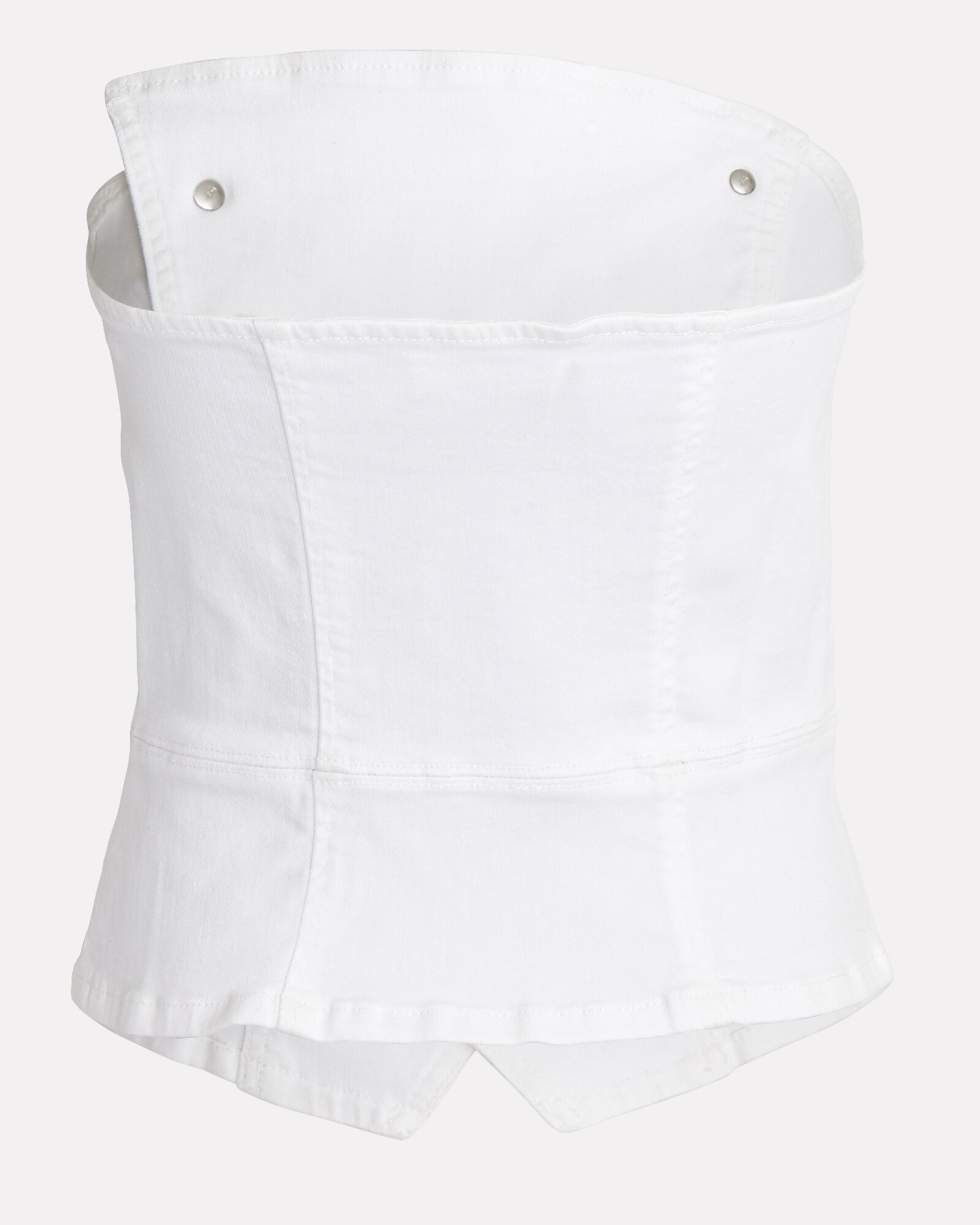 Florence Denim Bustier Top, WHITE, hi-res