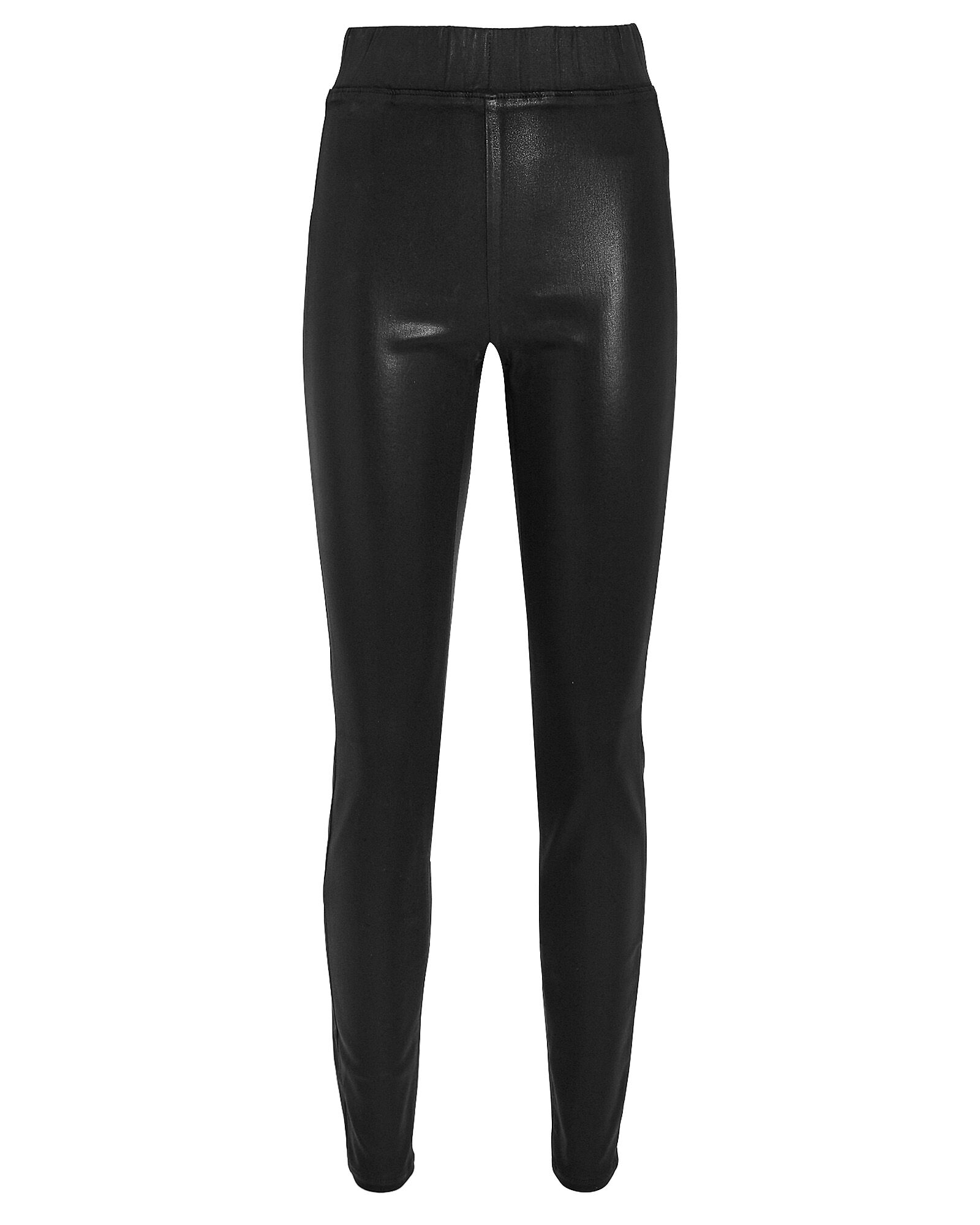 Rochelle Coated High-Rise Leggings, BLACK, hi-res