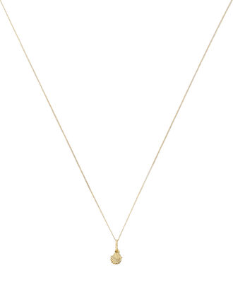 Hidden Pearl Mini Chain Necklace, GOLD, hi-res
