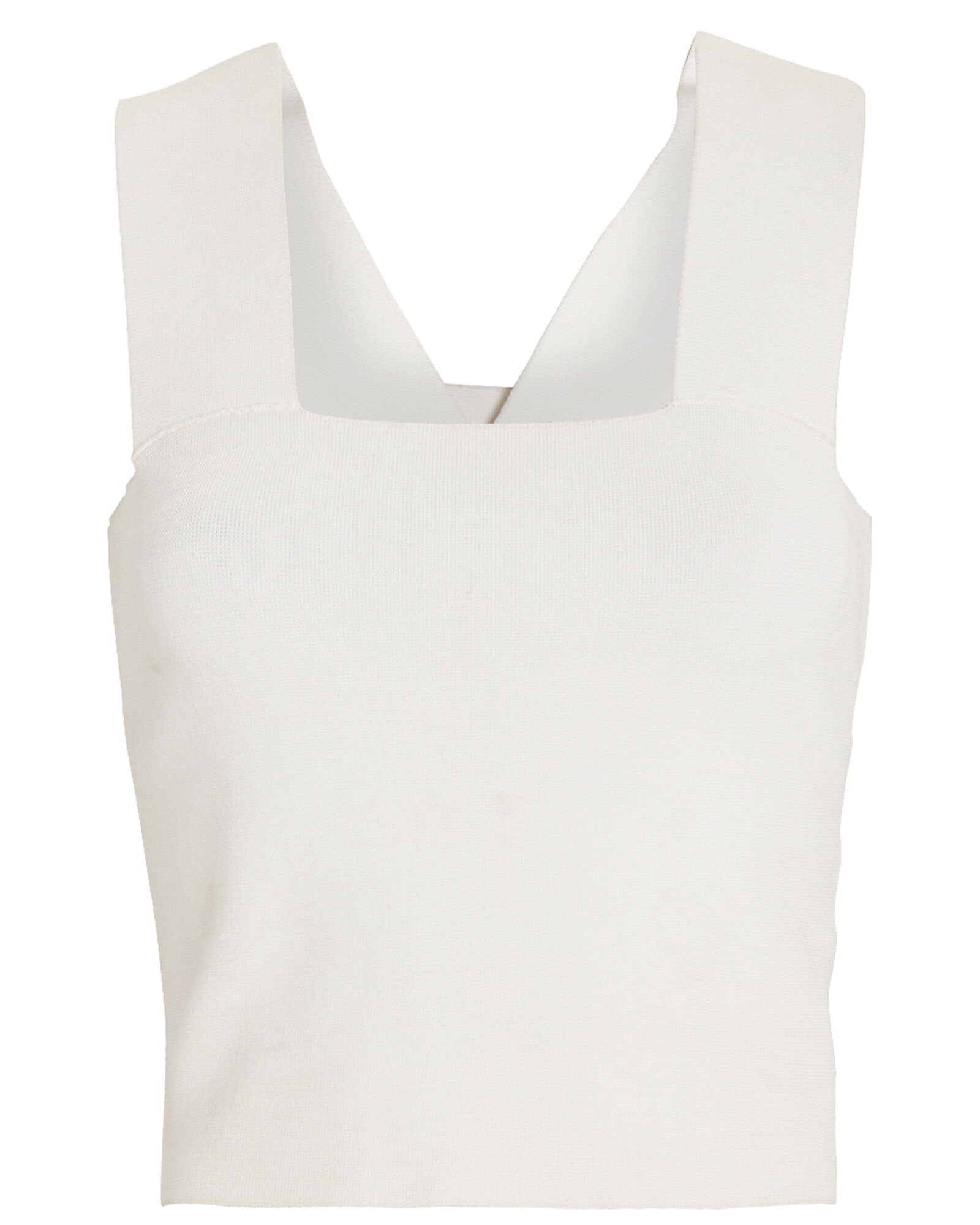 Lia Cropped Tank Top, White, hi-res