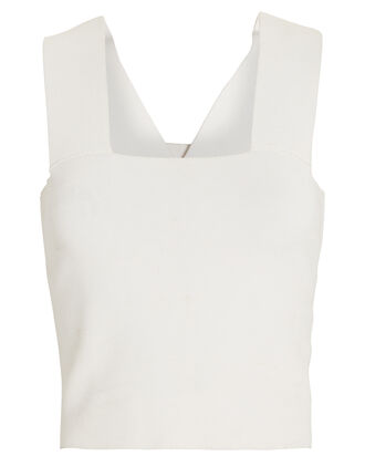 Lia Cropped Tank Top, BEIGE, hi-res