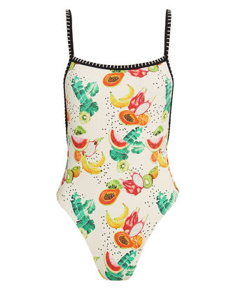 Natalia One Piece Swimsuit, IVORY/FRUIT PRINT, hi-res