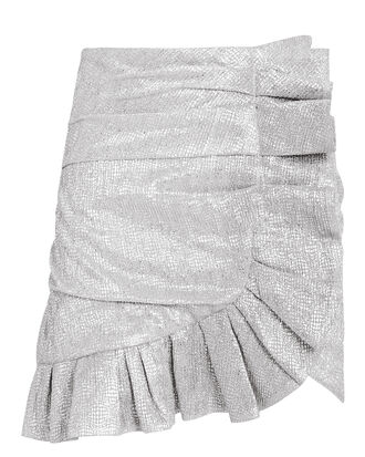 Sparkle Mini Skirt, SILVER, hi-res