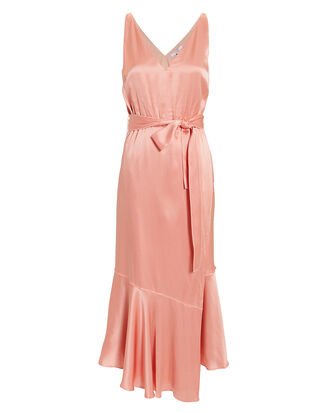 Blush Satin Midi Dress, BLUSH, hi-res