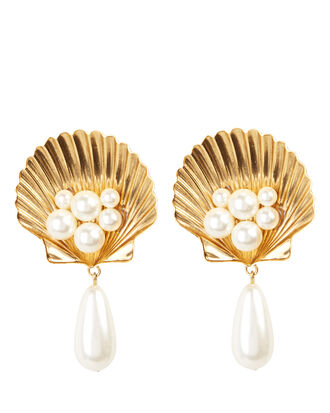 Positano Clip-On Earrings, GOLD, hi-res
