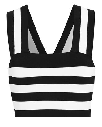 Tia Square Neck Tank, BLACK/WHITE, hi-res