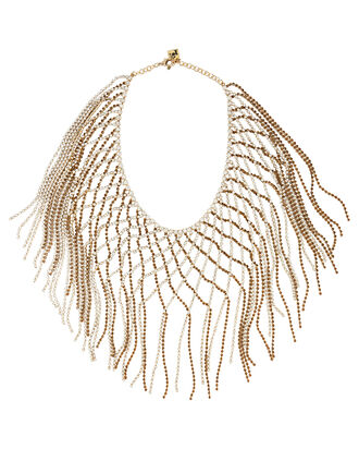 Oasis Fringe Necklace, BRONZE/WHITE, hi-res