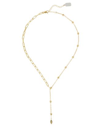 Yaeli Mixed Lariat Necklace, GOLD, hi-res