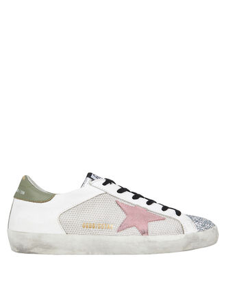 Superstar Mesh Low-Top Sneakers, WHITE, hi-res