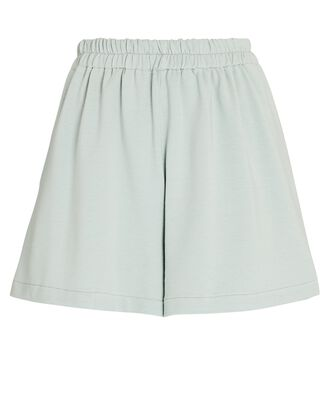 French Terry Sweat Shorts, PALE GREEN, hi-res