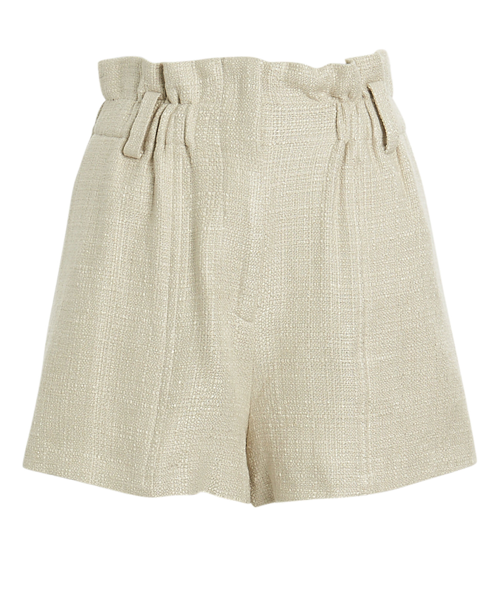 Asty High-Waist Shorts, IVORY, hi-res