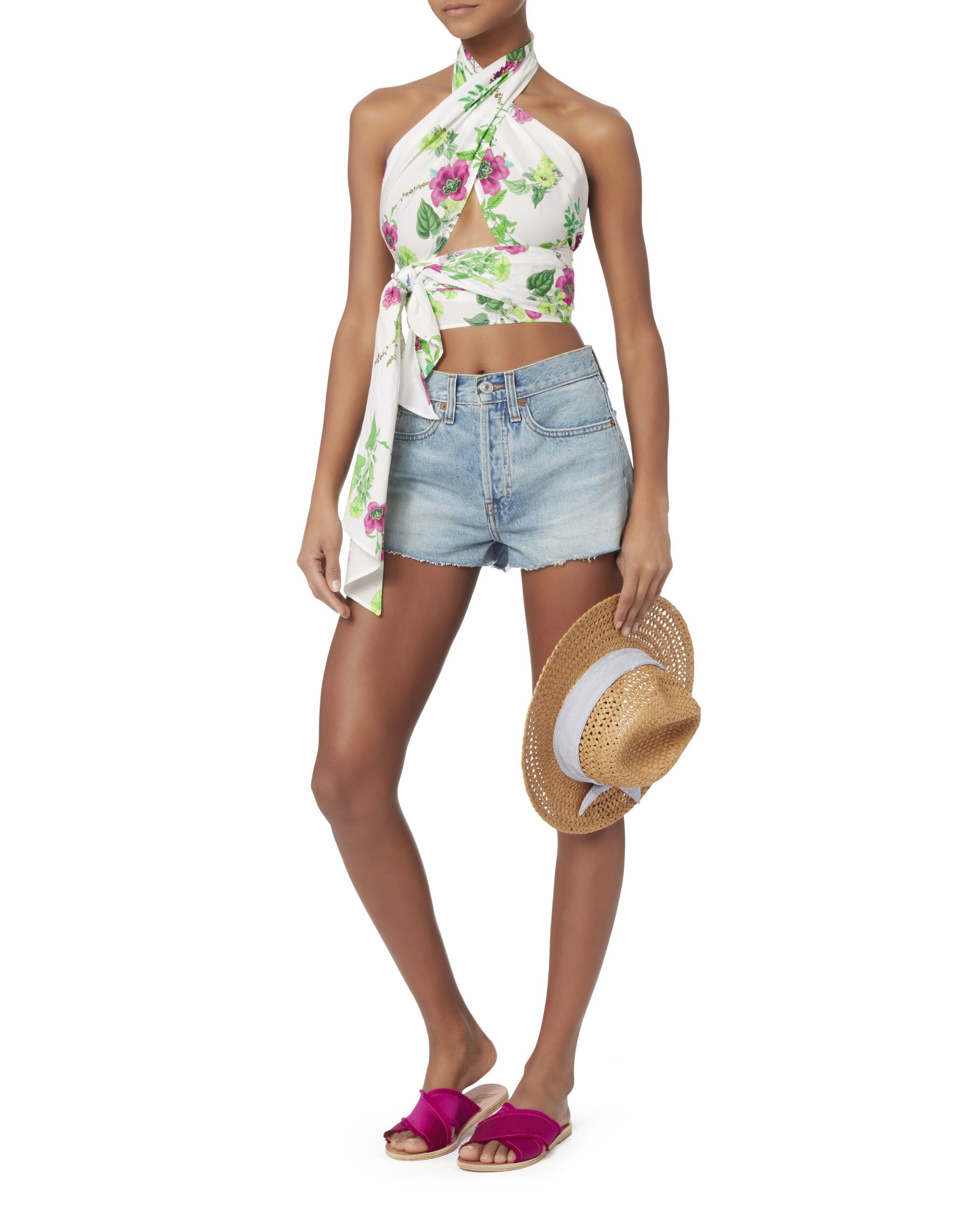 Everything Floral Scarf Top, PRINT, hi-res