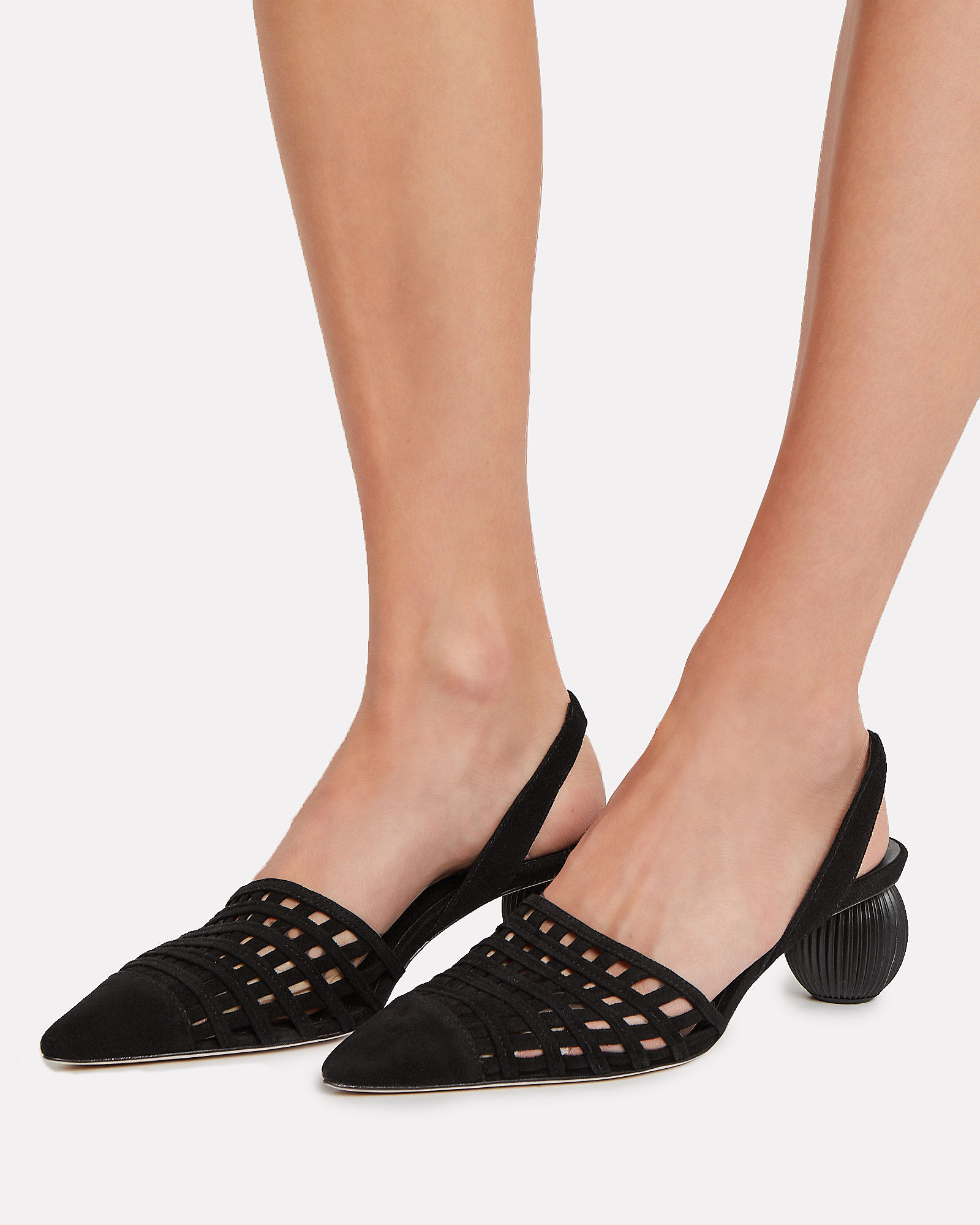 Keri Ball Heel Pumps, BLACK, hi-res