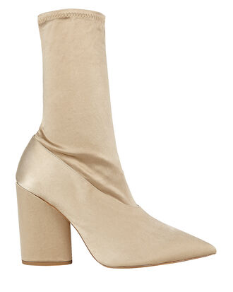 Satin Stretch Booties, GOLD, hi-res