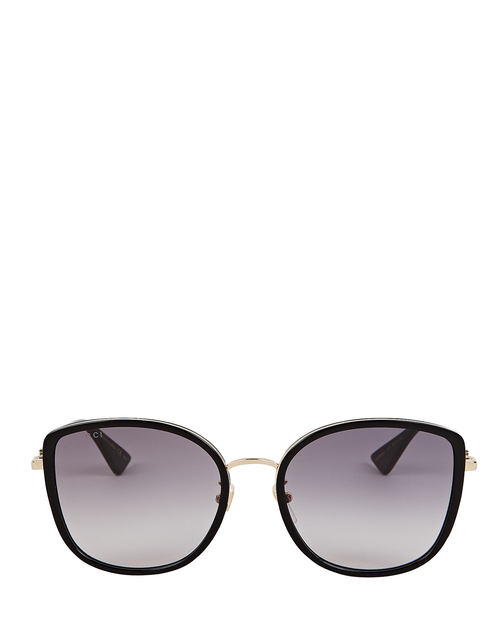 Oversized Rounded Cat Eye Sunglasses, BLACK, hi-res