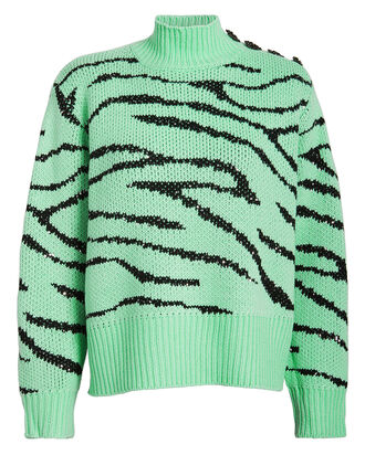 Lyla Sequin-Embellished Zebra Sweater, MULTI, hi-res
