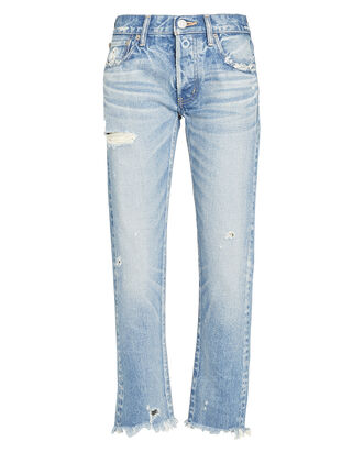 Kelley Tapered Mid-Rise Jeans, DENIM-LT, hi-res