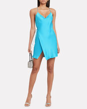 Strappy Silk Wrap Dress, TURQUOISE, hi-res