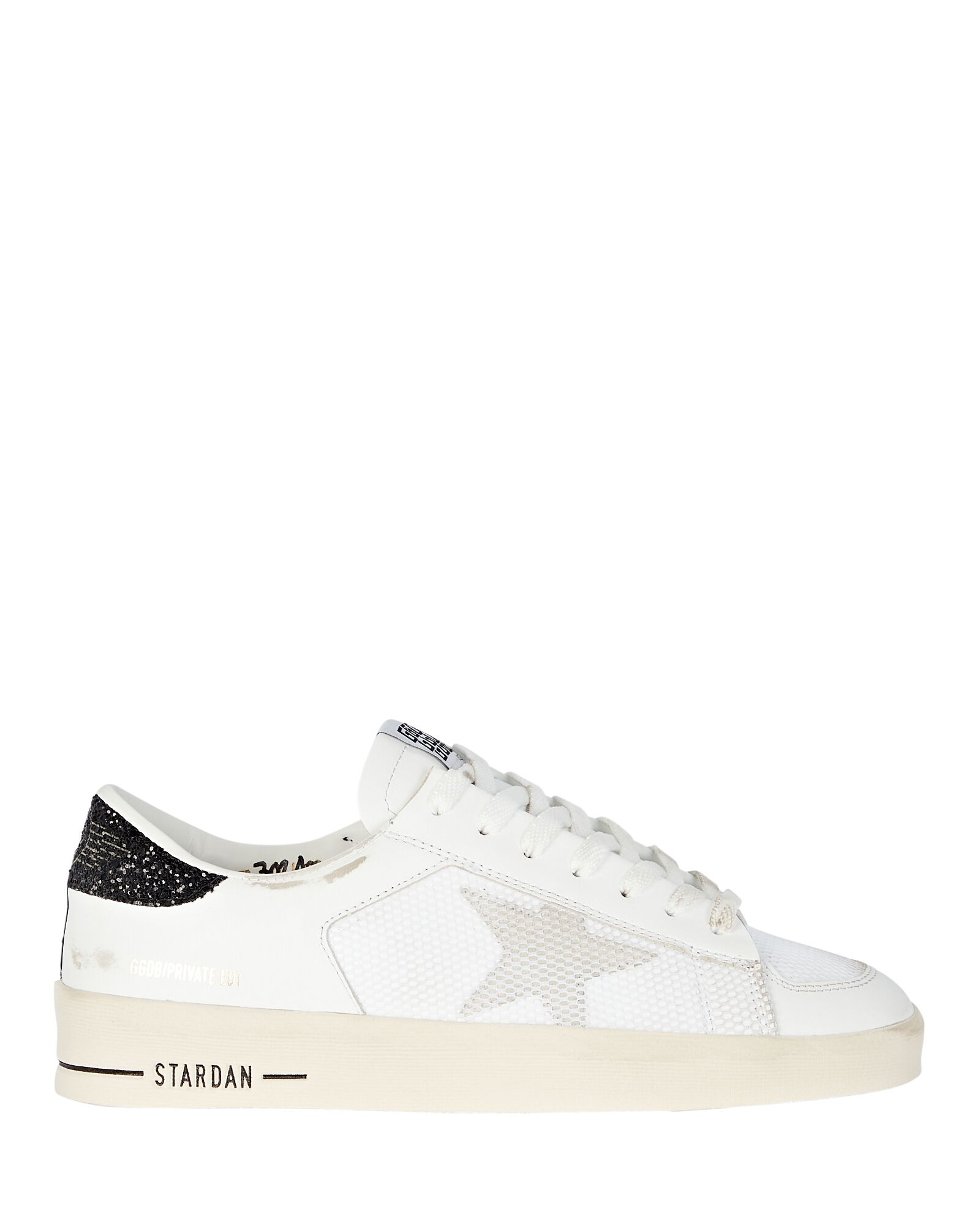 Stardan Leather Low-Top Sneakers, WHITE, hi-res