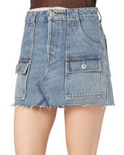 The Cargo Mini Skirt, DENIM, hi-res