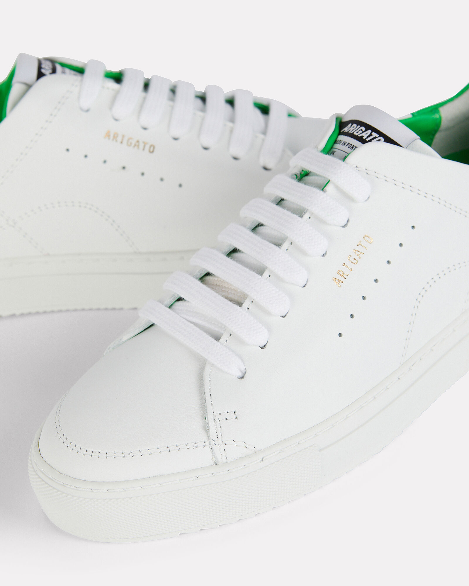 Clean 90 Leather Sneakers, WHITE/GREEN, hi-res