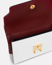 Trunk Colorblocked Slim Shoulder Bag, PINK/WHITE/BURGUNDY, hi-res
