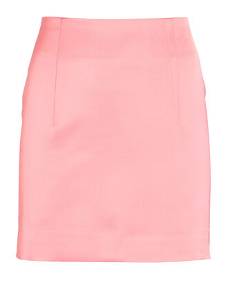 Mani Satin Mini Skirt, PINK, hi-res