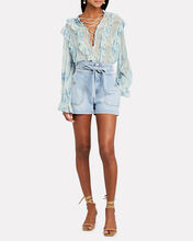 Cruis Ruffled Chiffon Blouse, BLUE-LT, hi-res