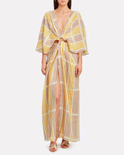 Paradise Striped Linen Maxi Dress, MULTI, hi-res