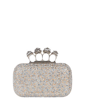 Spider Four Ring Box Clutch, , hi-res