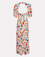 Steph Floral Midi Dress, MULTI, hi-res