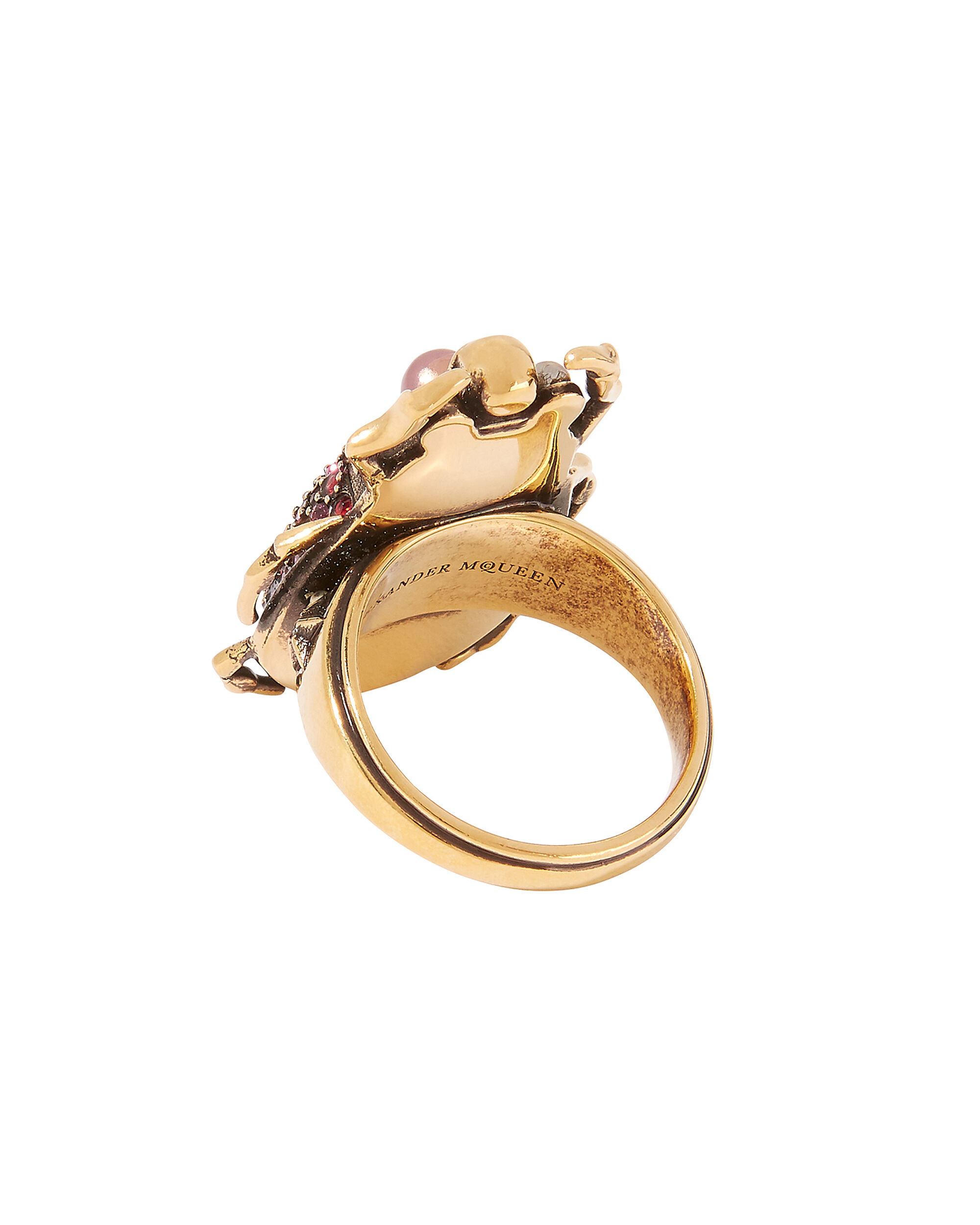 Beetle Ring, RED/PINK/GOLD, hi-res