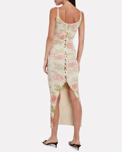 Ribbed Rose-Print Maxi Dress, IVORY, hi-res