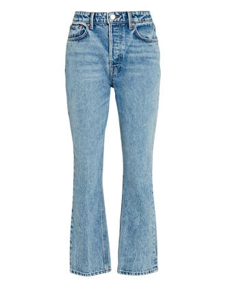 Karolina Cropped Straight-Leg Jeans, DENIM, hi-res