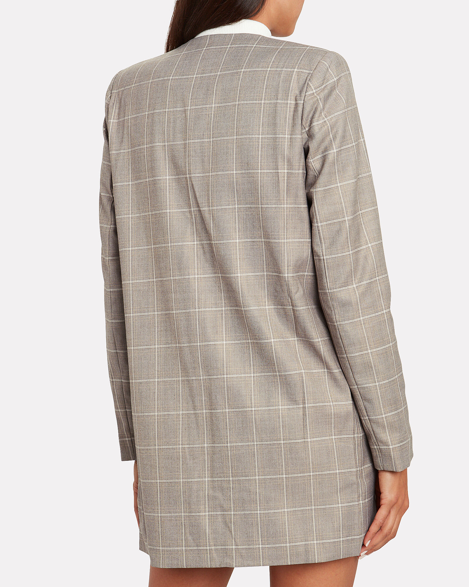 Mother Tongue Checked Blazer, BEIGE/CHECK, hi-res