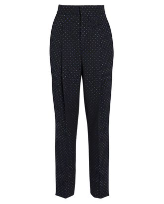 Crystal-Embellished Wool Pants, NAVY, hi-res